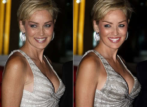 Sharon Stone is a babe with and without this manipulated lift.
