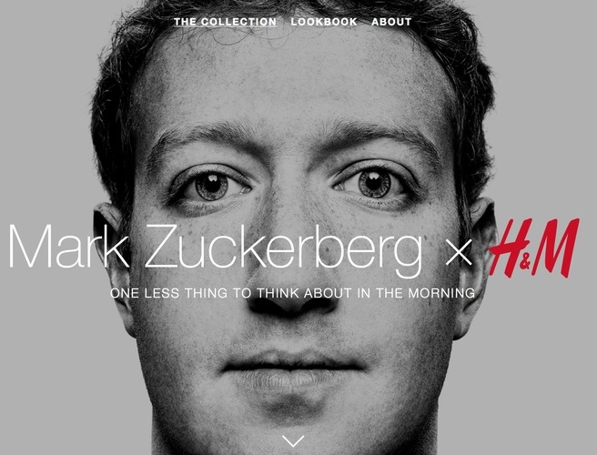 Facebook's own Mark Zuckerberg launched his own clothing line; grey t-shirts and blue jeans were the only two items for sale.