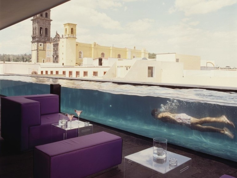 La Purificadora hotel in Puebla, Mexico use to be a 19th century water purifying factory.
