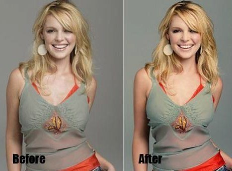 An earlier photo of Katherine Heigl looking fun and flirty. Were the changes really all that necessary?