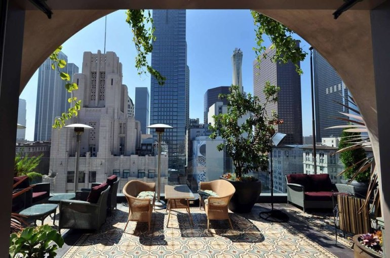 The Perch gives a perfect view of downtown Los Angeles, California.