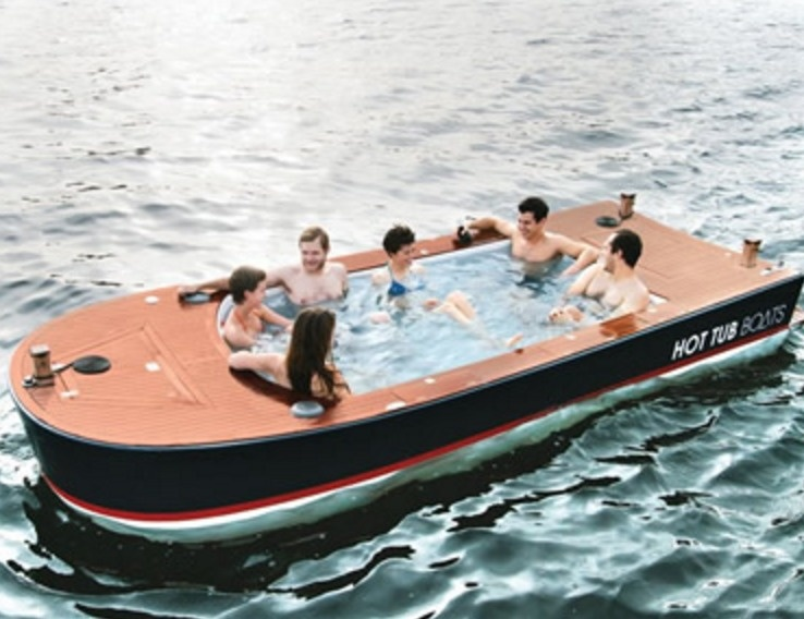 When the water itself just isn't enough, why not go for the hot tub boat?