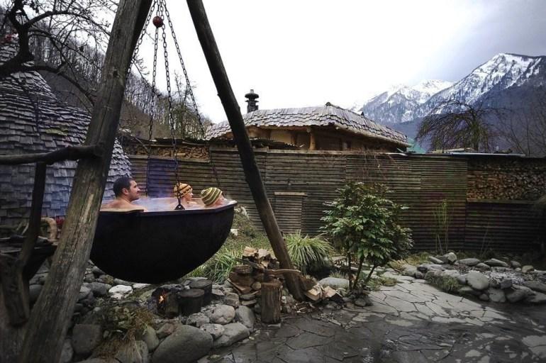 Medieval hot baths.