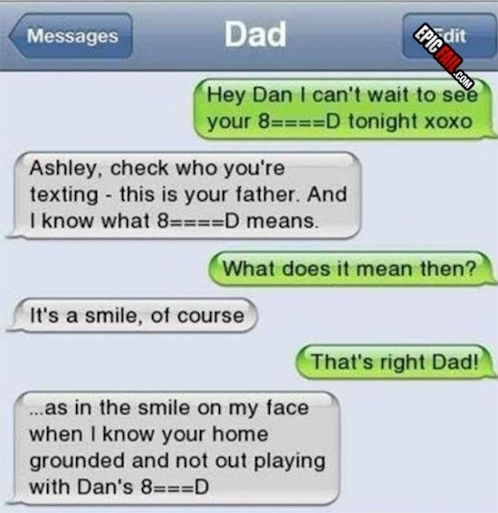 You always have to check who you're texting.