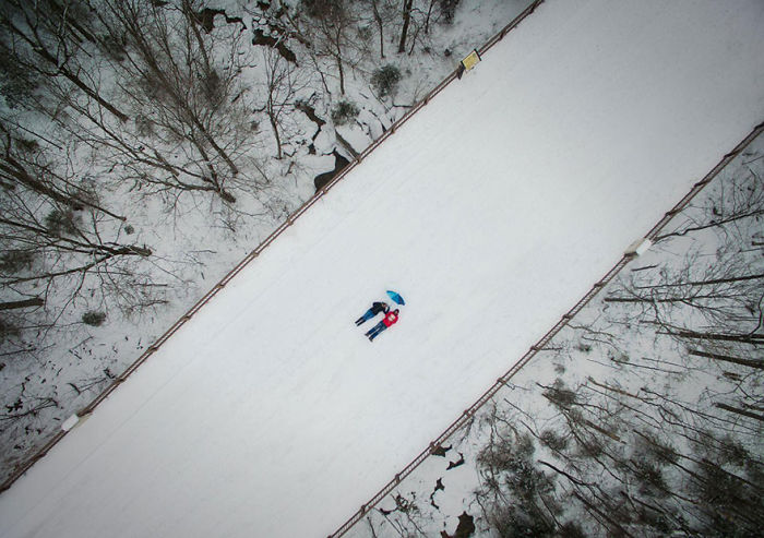 Selfie Taken With A Drone, New Hampshire, United States