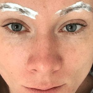 Katharine McPhee microblading gone wrong