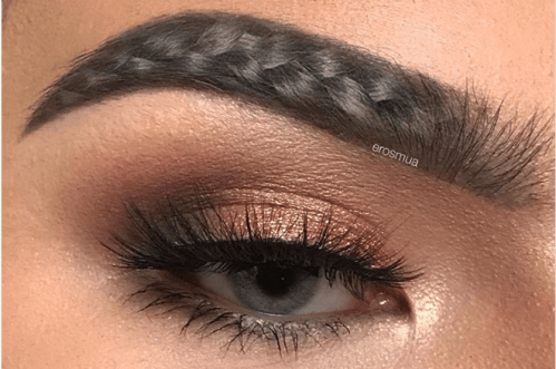 Eyebrow Trend - braided brows