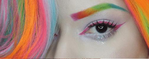 Eyebrow Trend - Rainbow