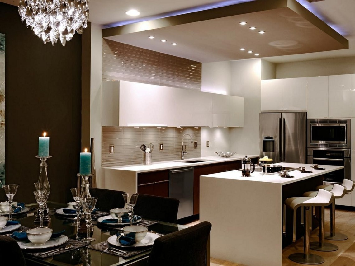 Incredible Modern Kitchen Ceiling Ideas Opnodes