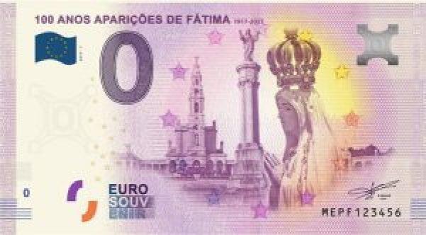 Cédula de zero euro em homenagem aos 100 anos das aparições de Fátima, em Portugal... - Veja mais em https://caraoucoroa.blogosfera.uol.com.br/2018/01/30/saiba-como-foi-criada-e-para-que-serve-a-cedula-de-zero-euro/?cmpid=copiaecola