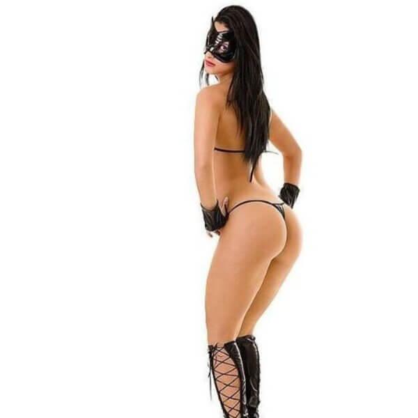Fantasia Erótico Mulher Gato Sexy - Fantasia Sensual