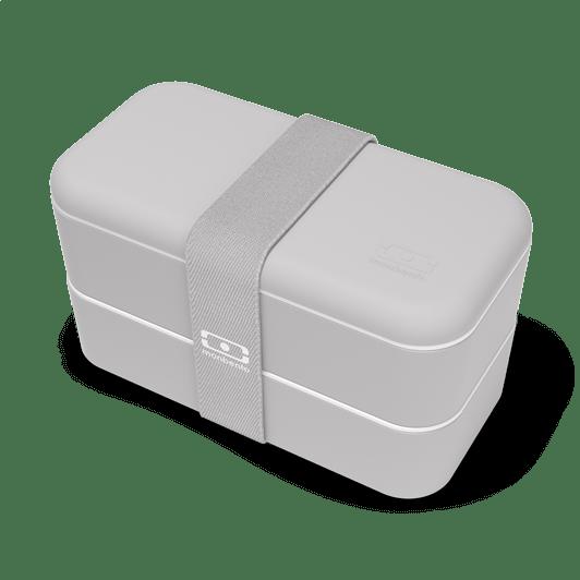 monbento - bento repas gris coton