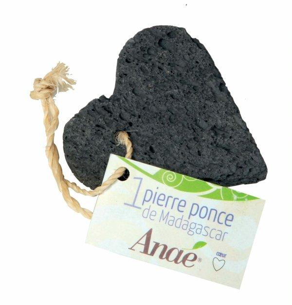 Pierre ponce naturelle en forme de coeur