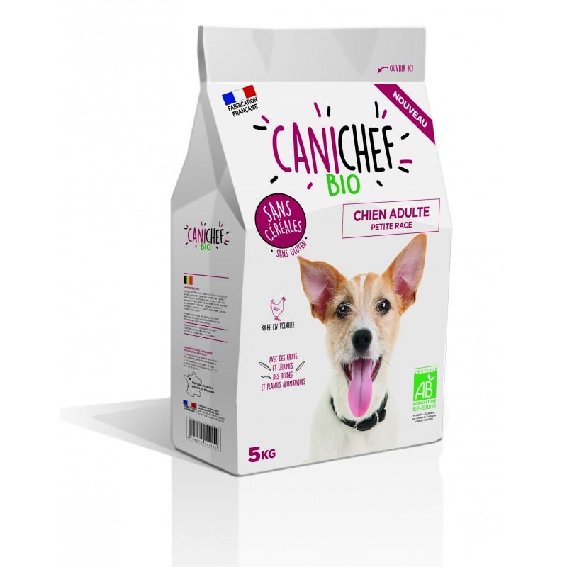 CANICHEF: croquettes BIO Sans céréales pour chien petite race