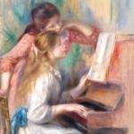 Renoir dziewczeta przy pianienie