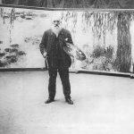 Monet podczas pracy - Nenufary