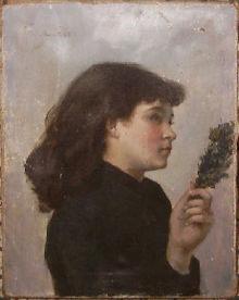 Victorine Meurent, Niedziela Palmowa, ok. 1880, jedyna praca malarki, która przetrwała do dzisiaj; Musée Municipal d'Art et d'Histoire de Colombes, Francja
