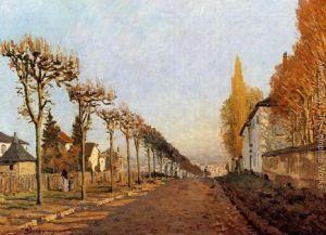 Ulica de la Machine Louveciennes - Alfred Sisley - 1873