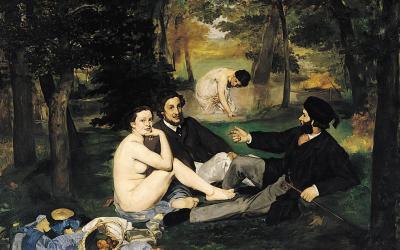 """""""Śniadanie na trawie"""" 1863 – Edouard Manet"""