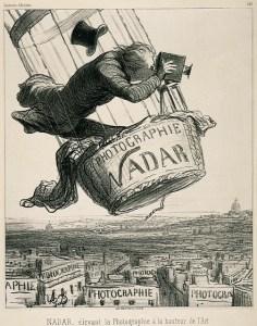 Nadar - Karykatura wykonana przez Honore Daumier