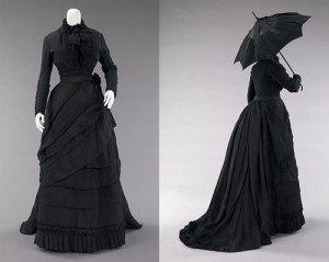 Suknie żałobne - lata 70-te XIX wieku
