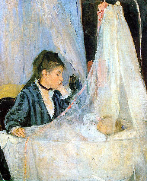"""Kołyska"" 1872 – Berthe Morisot"