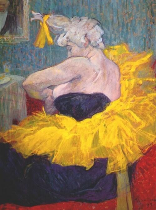 """La Clownesse Cha-U-Kao"" 1895 – Henri Tolouse Lautrec"