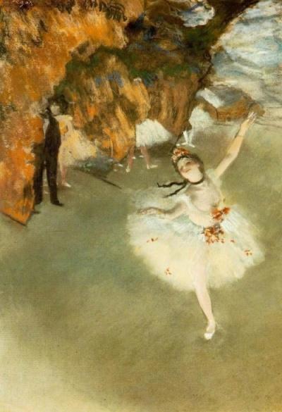 """Primabalerina (balet)"" 1876-1877 – Edgar Degas"