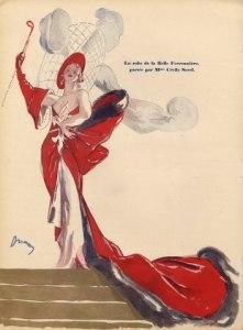 """W 1933 r. Cecile Sorel rzuciła słynne """"Czy ładnie schodzę po schodach""""  u podnóży schodów Dorian w Casino de Paris – później, przez długi czas kojarzono ją z tymi słowami."""
