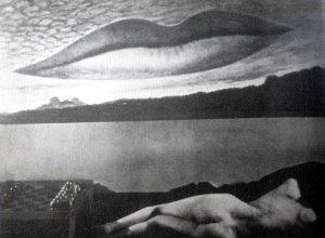 """""""Dokadny czas - zakochani"""" usta Lee Miller - jedno z najbardziej znanych dzieł w dorobku Man'a Ray'a"""
