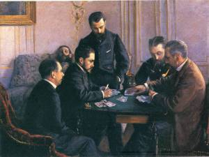 """Partia bezika"" Gustave Caillebotte, 1881, zbiory prywatne"