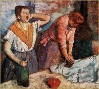 Degas kobiety prasujące