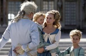 Maria Antonina z dziećmi i królem
