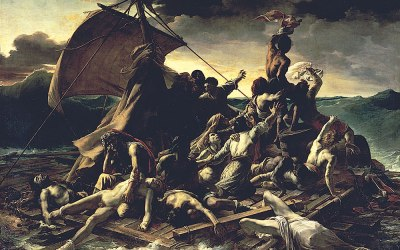 """Tratwa meduzy"" 1819 – Théodore Géricault,"