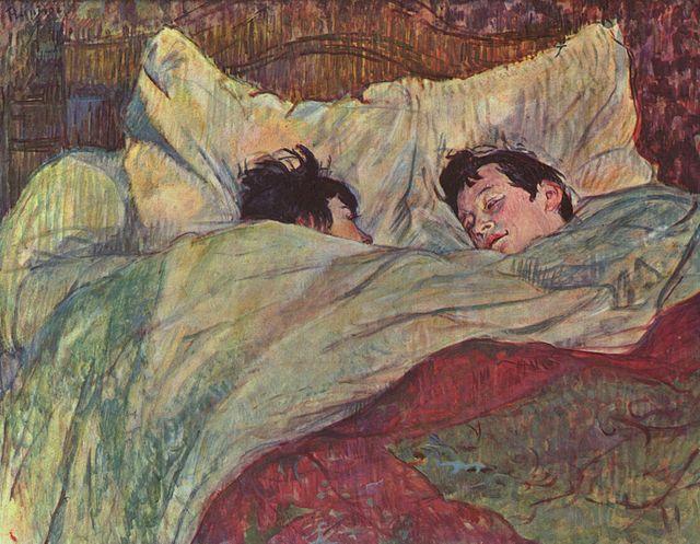 """""""W łóżku"""" 1892 – Henri Toulouse Lautrec"""