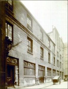 Miejsce hdzie znajdowała się drukarnia Balzaca przy rue Visconti sfotografowana w 1914 roku
