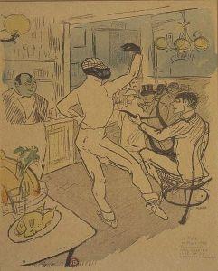 Chocolat na obrazku autorstwa Toulouse Lautrec'a