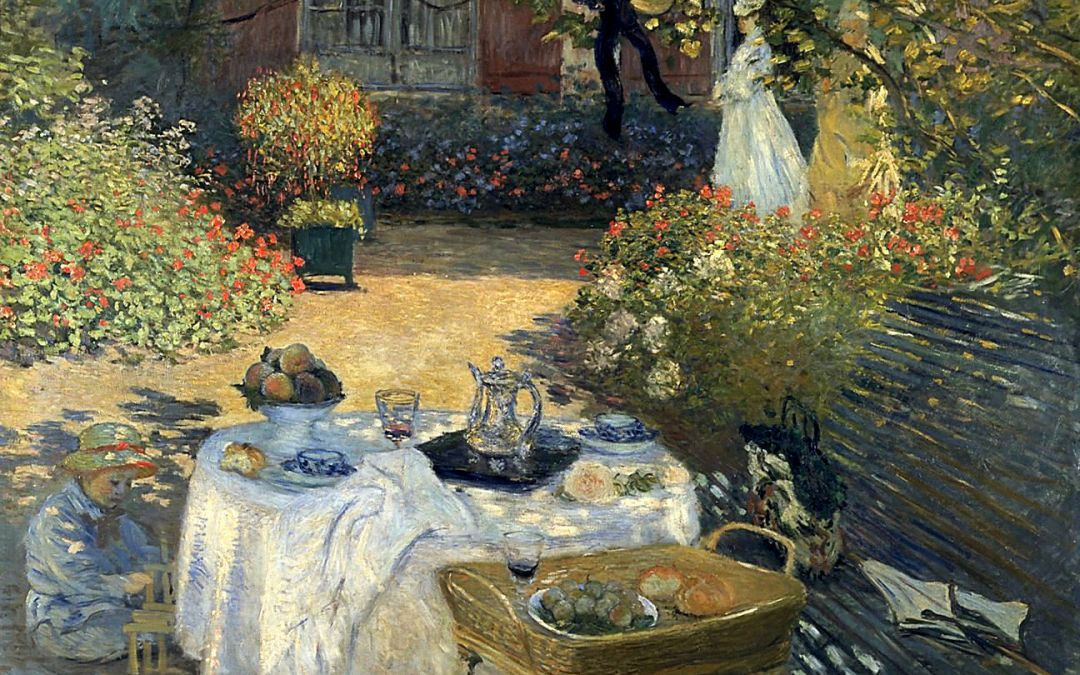 """Lunch"" 1874 Claude Monet"
