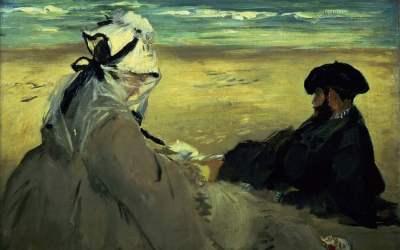 """Na plaży"" 1873  Edouard Manet"