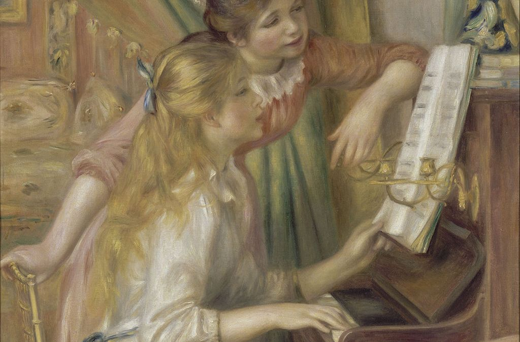 """""""Dziewczęta przy pianinie"""" 1892 Pierre -Auguste Renoir"""
