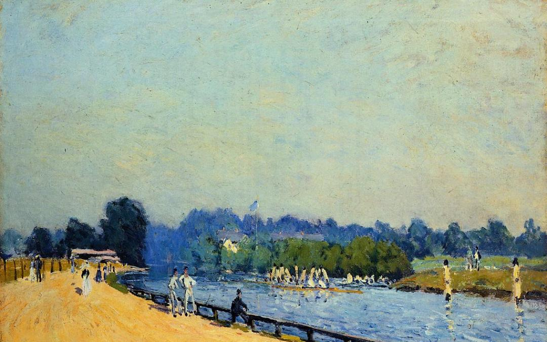 """Droga z Hampton Court do Molesey"" 1874 Alfred Sisley"