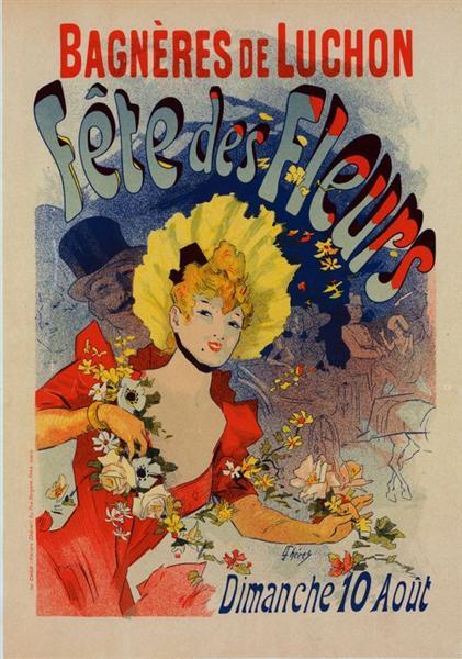 Jules Cheret plakat Bagneres de Luchon