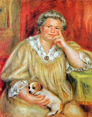 """Madame Renoir i Rob"" 1910 Auguste Renoir"