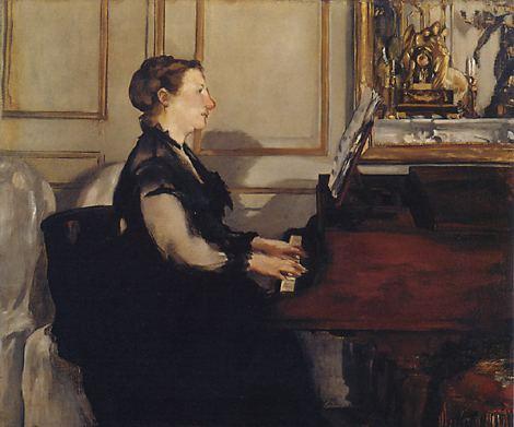 Édouard_Manet-Madame_Manet przy pianinie 1867-68