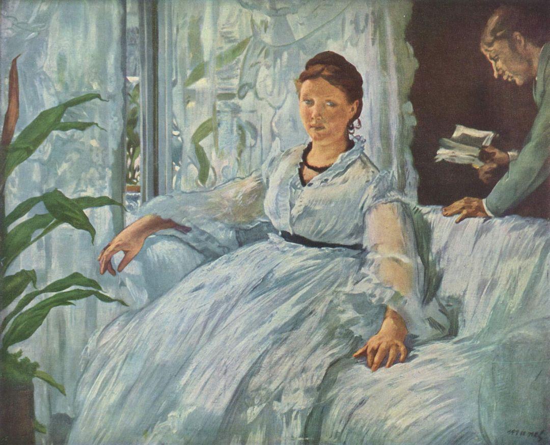"Madame Manet ""Lektura"" - Edouard Manet"