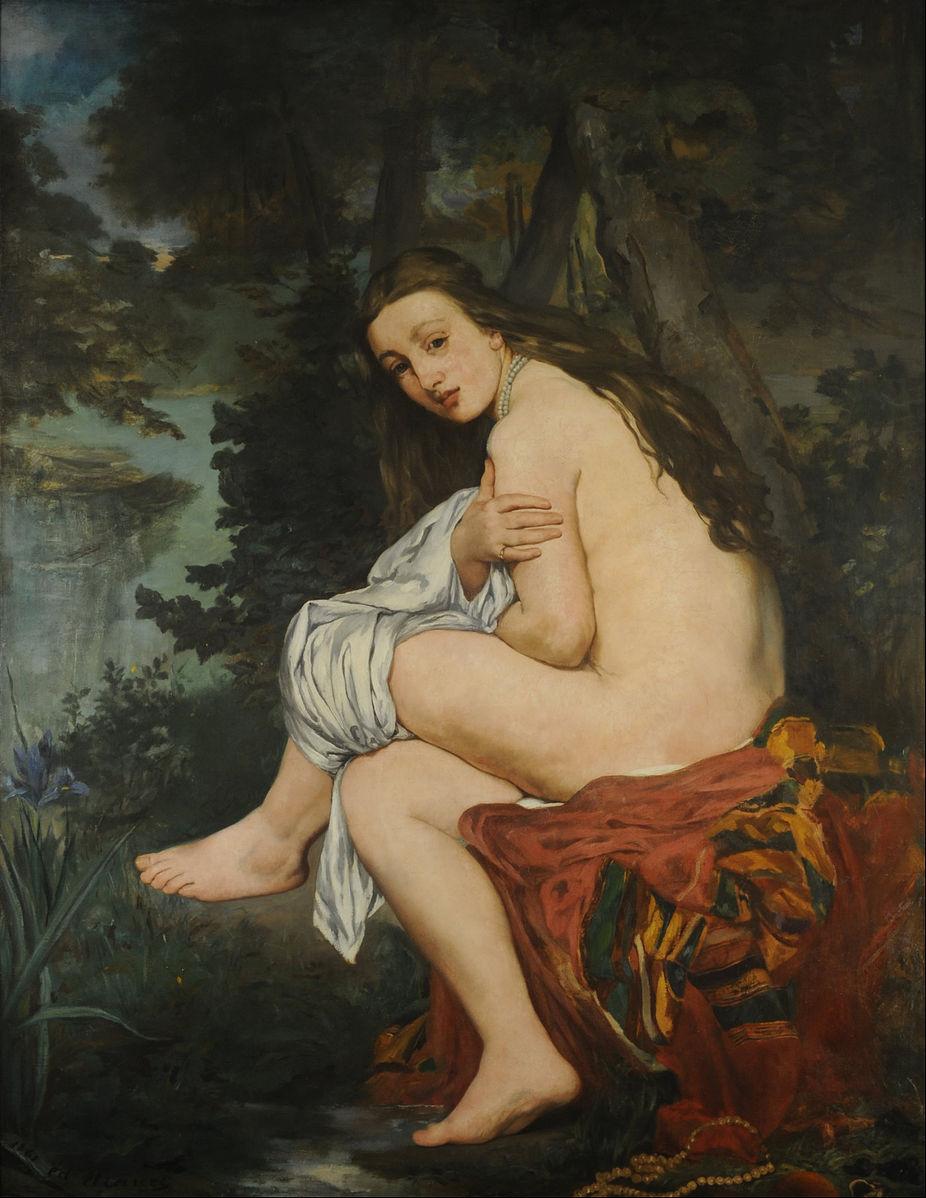 "Edouard Manet - ""zaskoczona Nimfa"" 1859-1861"