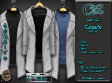"Mesh coat ""Daviken"" in White"