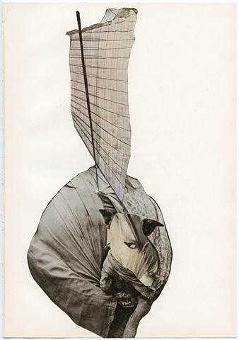 Samuel T. Adams, 'Vessel,' 2011, collage, 10.5 x 7.5 inches