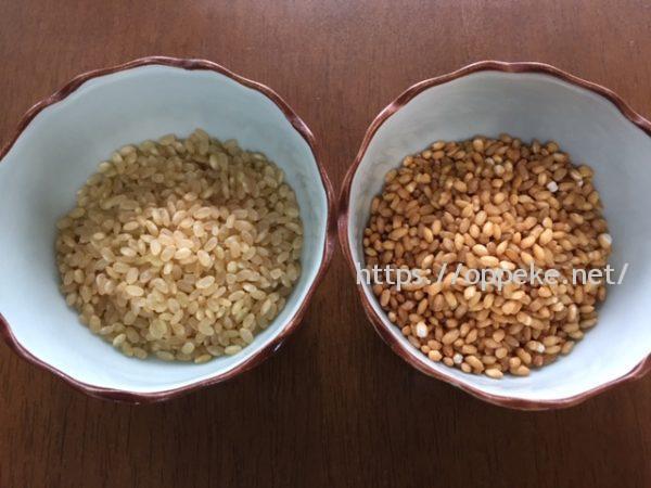 玄米,炒る