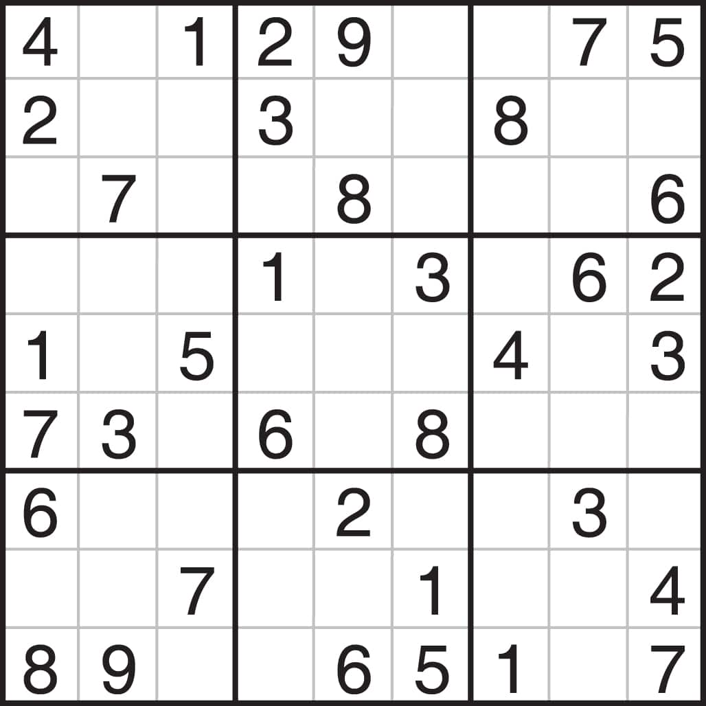 Geeky image within printable sudoku 4 per page